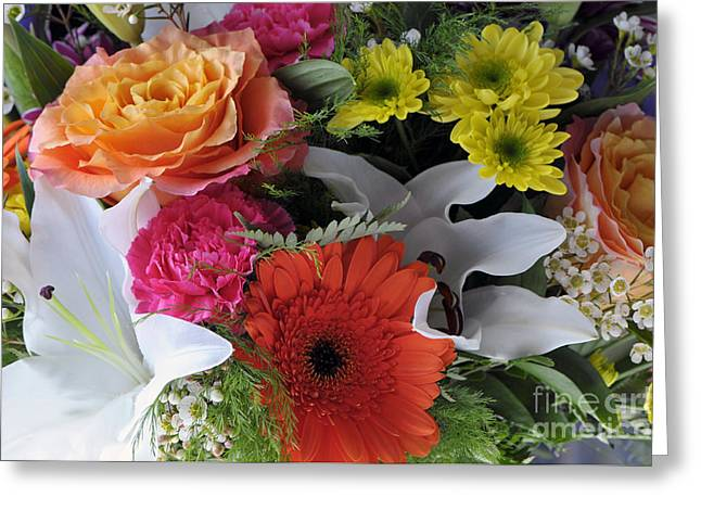 Floral Bouquet 7 Greeting Card by Sharon Talson