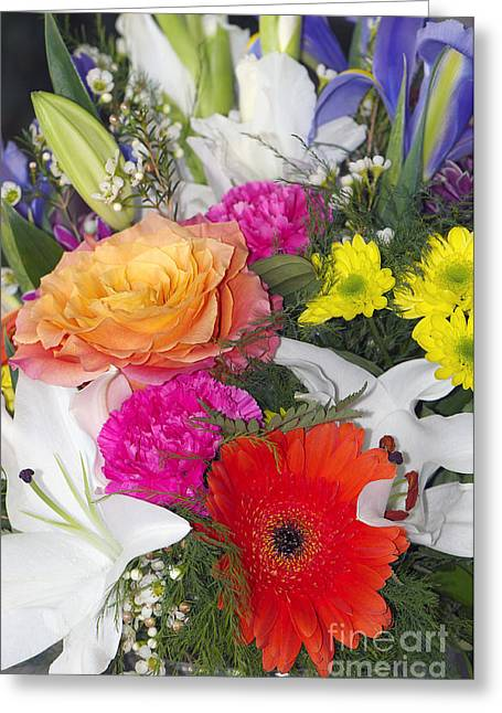 Floral Bouquet Greeting Card by Sharon Talson