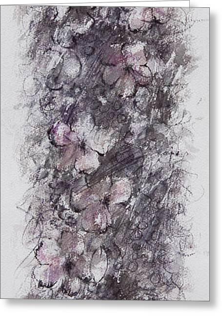 floral cascade II Greeting Card by Rachel Christine Nowicki