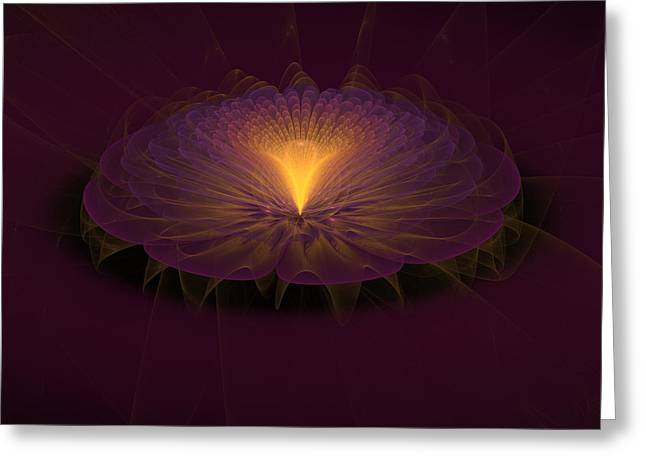 Greeting Card featuring the digital art Floral Creation by Arlene Sundby