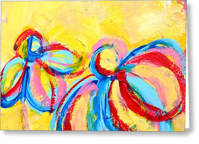 Abstract Flowers Silhouette No 12 Greeting Card by Patricia Awapara