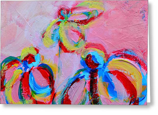 Abstract Flowers Silhouette No 11 Greeting Card by Patricia Awapara