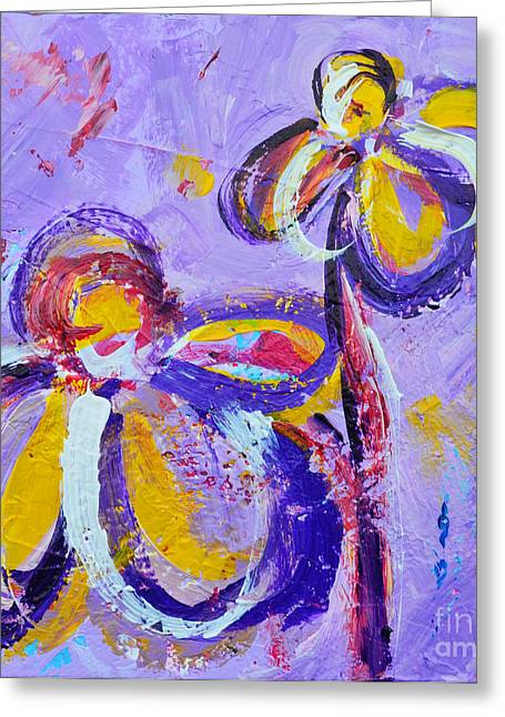 Abstract Flowers Silhouette No 8  Greeting Card by Patricia Awapara