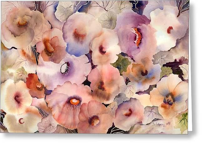 Floral Dreams Greeting Card by Neela Pushparaj