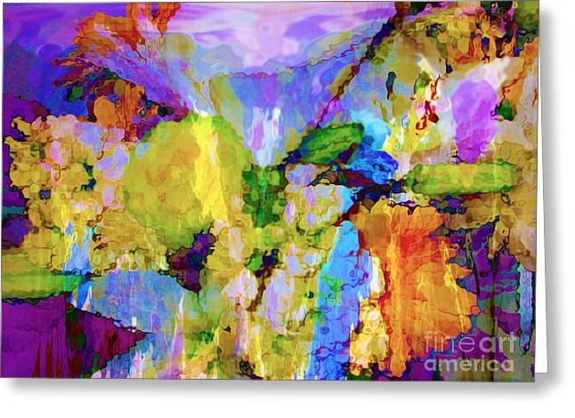 Floral Dreamscape Greeting Card
