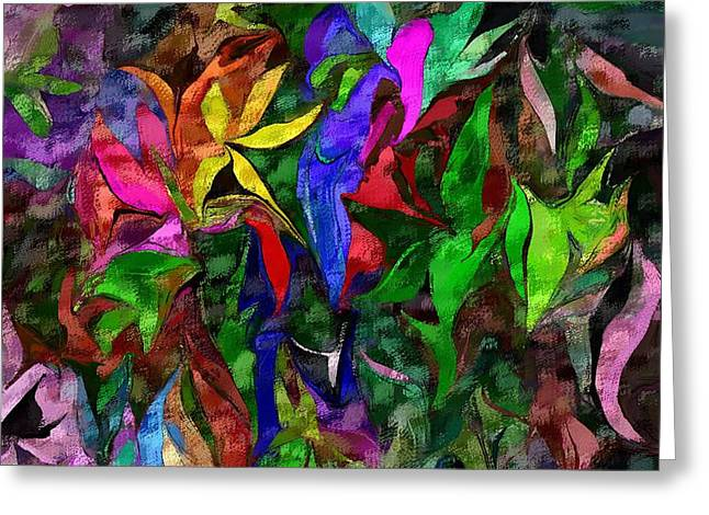 Greeting Card featuring the digital art Floral Fantasy 012015 by David Lane
