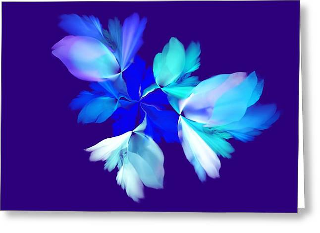 Greeting Card featuring the digital art Floral Fantasy 012815 by David Lane