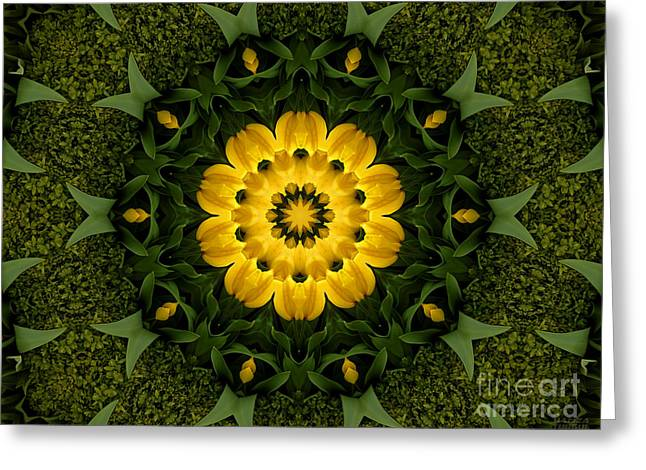 Floral Fantasy - 34 Greeting Card by Hanza Turgul