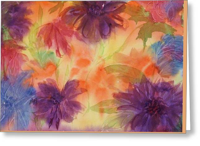 Floral Fantasy Greeting Card by Ellen Levinson