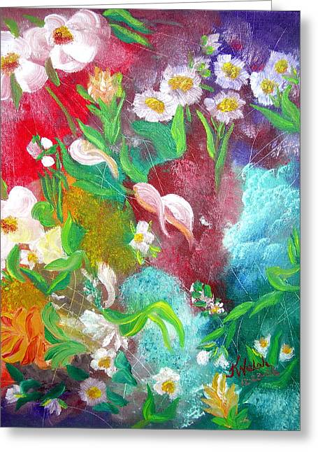 Floral Fantasy Greeting Card by Kathern Welsh