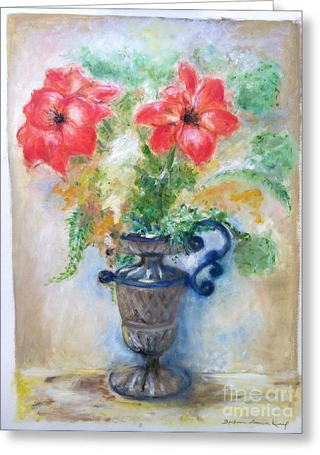 Floral In Urn Greeting Card