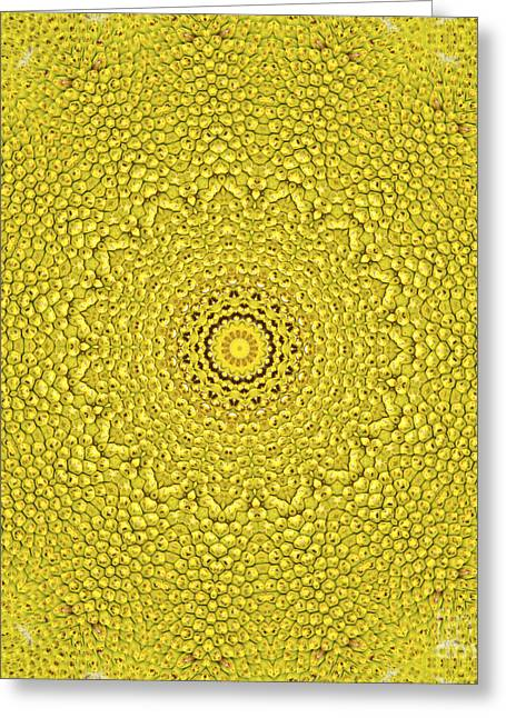 Floral Jackfruit Scale Like Pattern Greeting Card by Image World