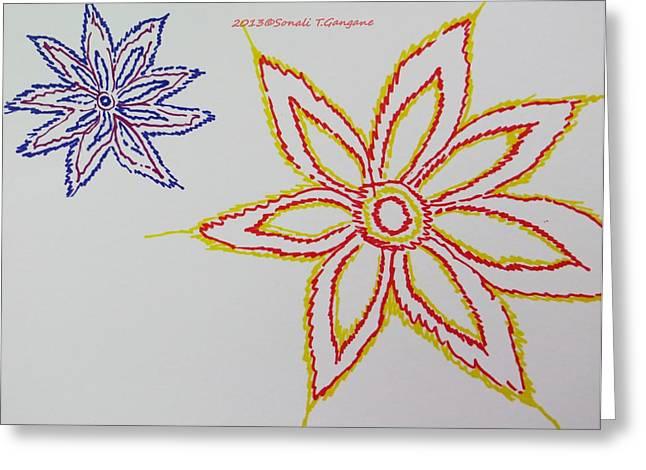 Floral Joy  Greeting Card by Sonali Gangane