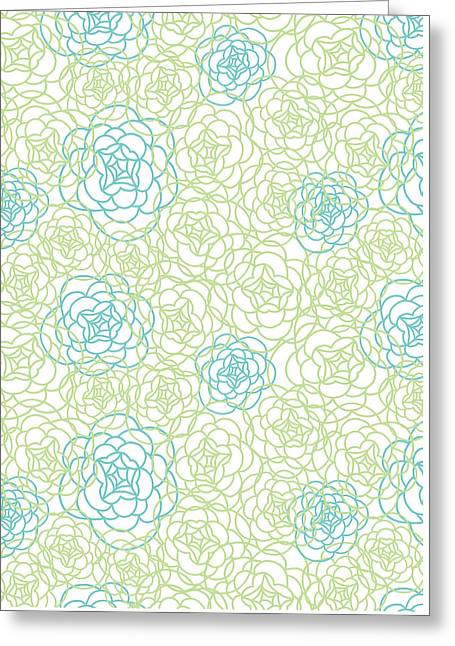 Floral Lines Greeting Card by Susan Claire