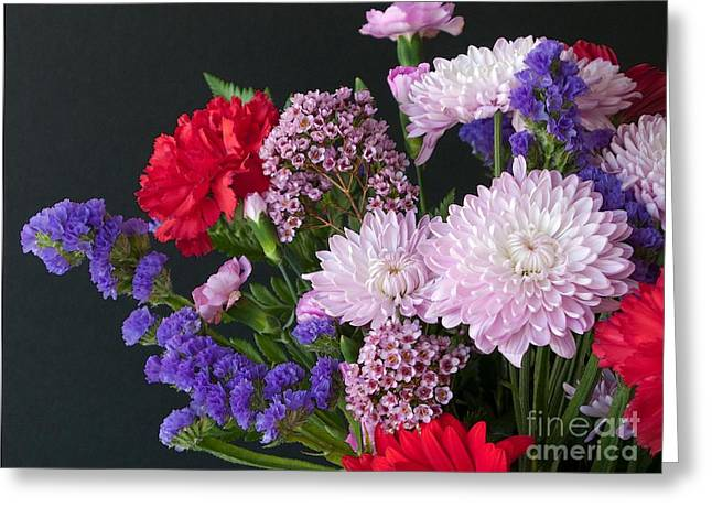 Floral Mix Greeting Card by Ann Horn