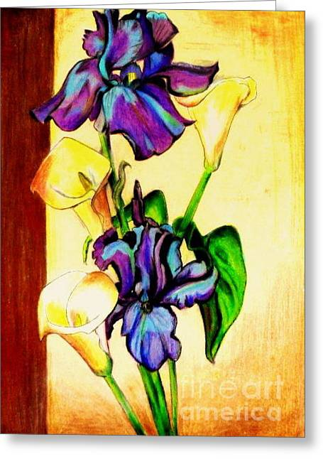 Floral Greeting Card by Mylene Le Bouthillier