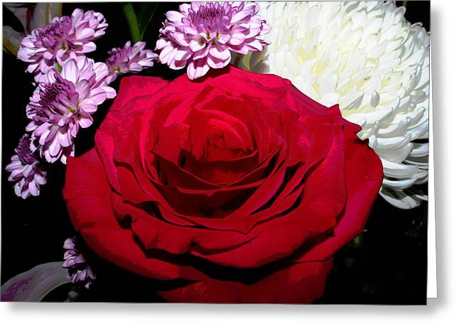 Floral Arrangement - Posterized Greeting Card
