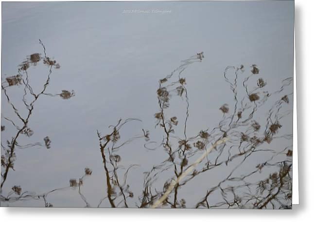 Floral Reflection Greeting Card by Sonali Gangane
