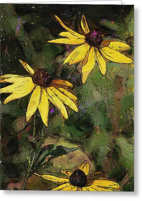 Floral Sketch 022614 Greeting Card by David Lane
