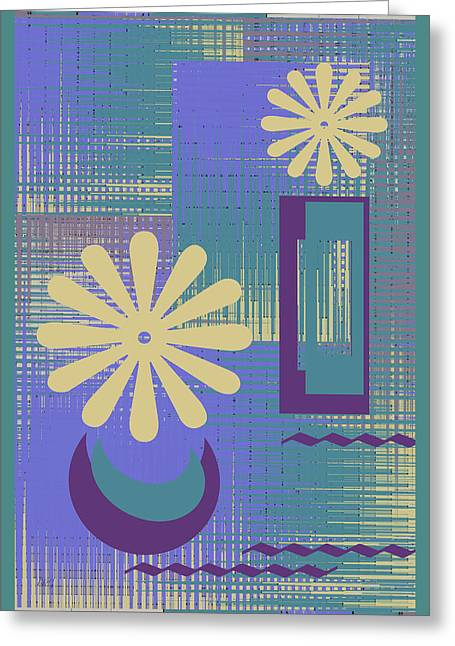Floral Still Life In Purple Greeting Card