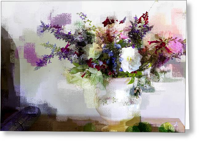 Greeting Card featuring the photograph Floral Still Life II by Linde Townsend