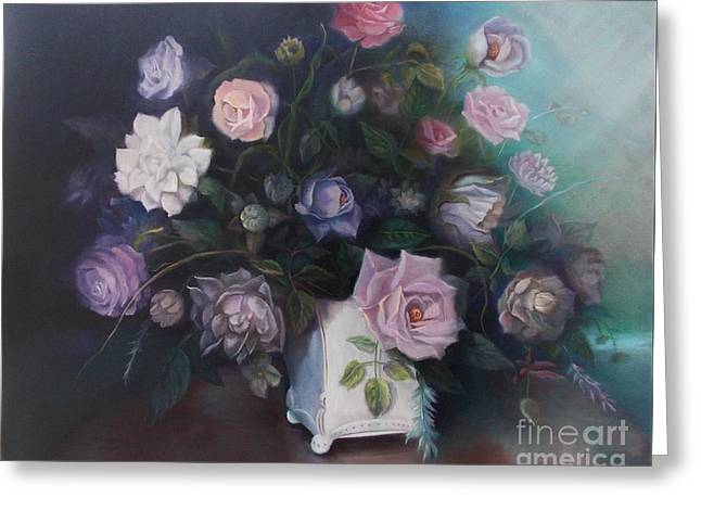 Floral Still Life Greeting Card by Marlene Book