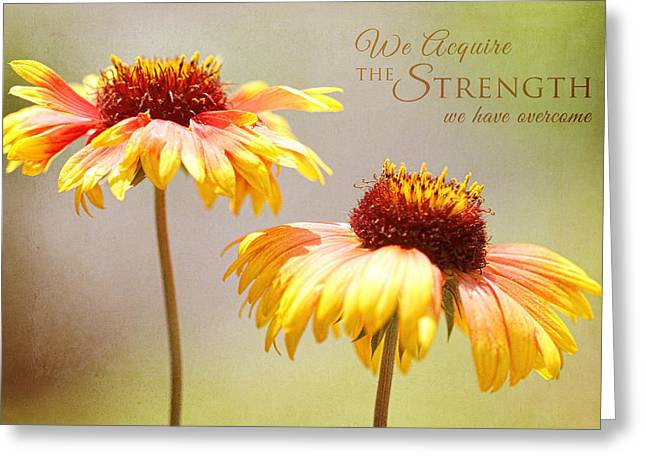Floral Sunshine With Message Greeting Card