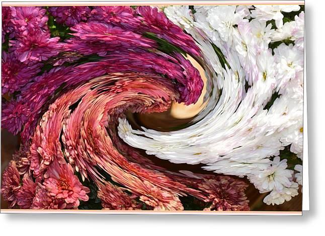 Floral Twirl Greeting Card