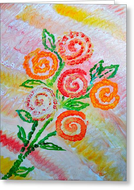 Floralen Traum Greeting Card by Sonali Gangane