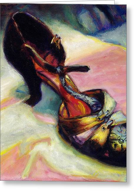 Florence Greeting Card by Ann Moeller Steverson