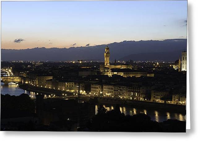 Florence At Night Greeting Card
