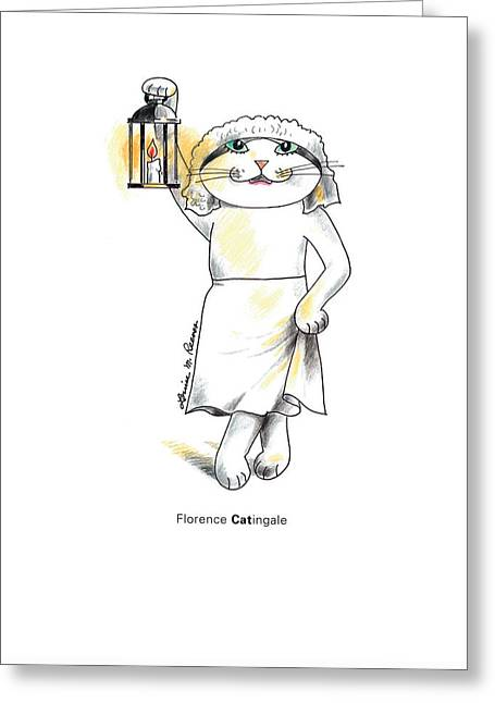 Florence Catingale Greeting Card by Louise McClain Reeves