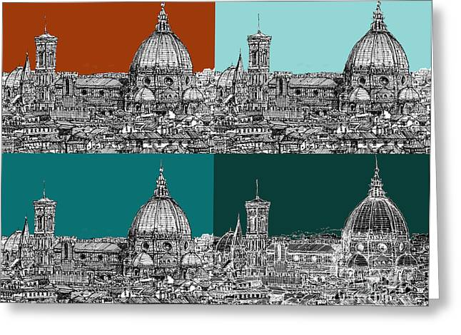 Florence Foursome 1 Greeting Card by Adendorff Design