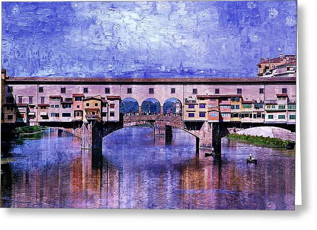 Florence Italy Greeting Card by Kathy Churchman