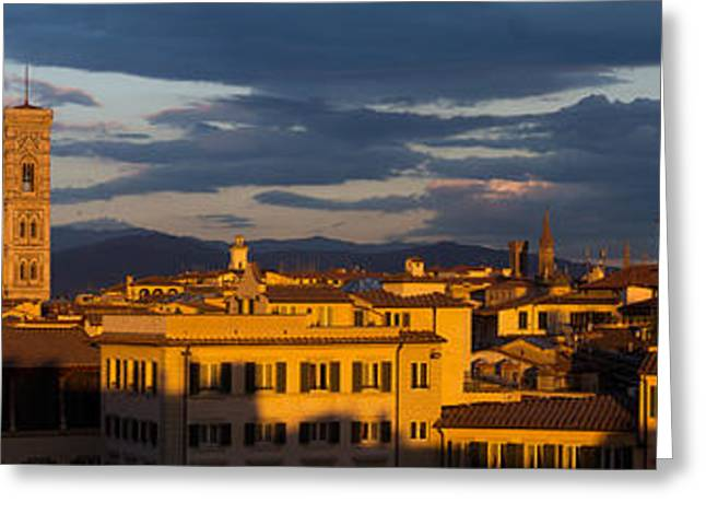 Greeting Card featuring the photograph Florence Italy by Mike Evangelist