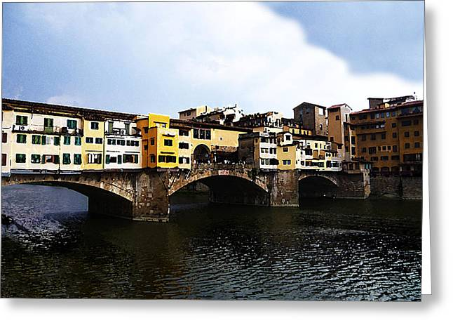 Florence Italy Ponte Vecchio Greeting Card