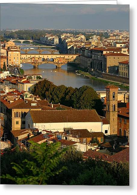 Greeting Card featuring the photograph Florence Morning 3 by Henry Kowalski