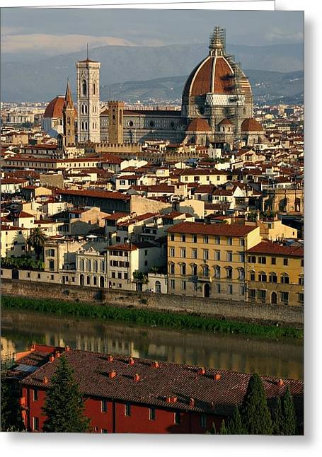 Greeting Card featuring the photograph Florence Morning by Henry Kowalski