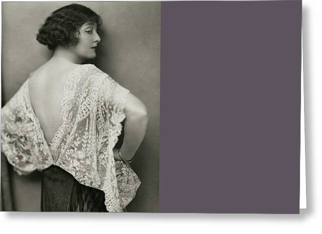 Florence Reed In East Of Suez Greeting Card by Nickolas Muray