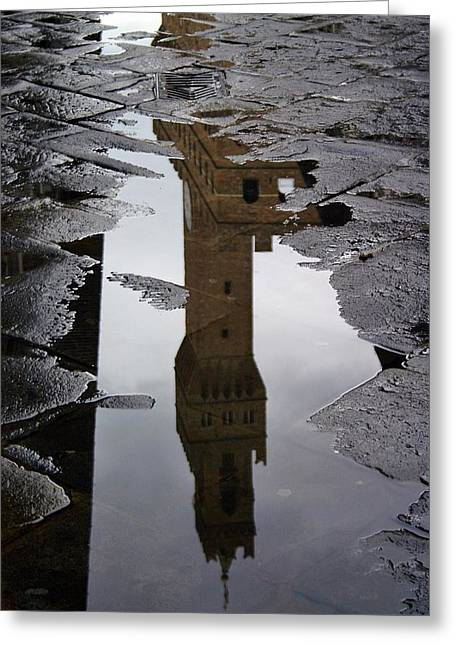 Greeting Card featuring the photograph Florence Reflection by Henry Kowalski