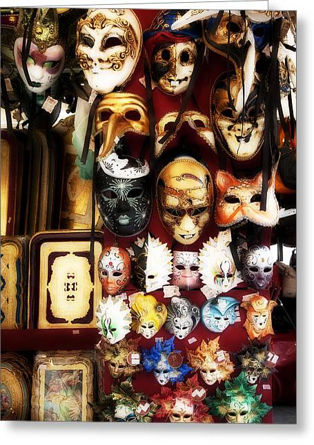 Florentine Masks Greeting Card by Hugh Smith