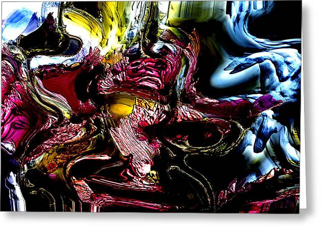 Greeting Card featuring the digital art Flores' Darker More Uncomfortable Twin by Richard Thomas