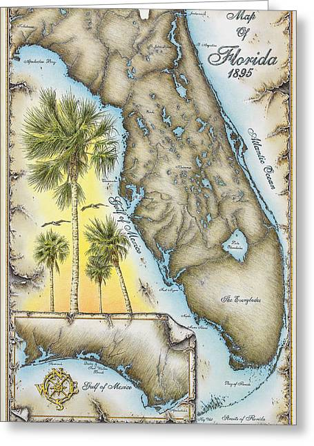 Florida 1895 Greeting Card