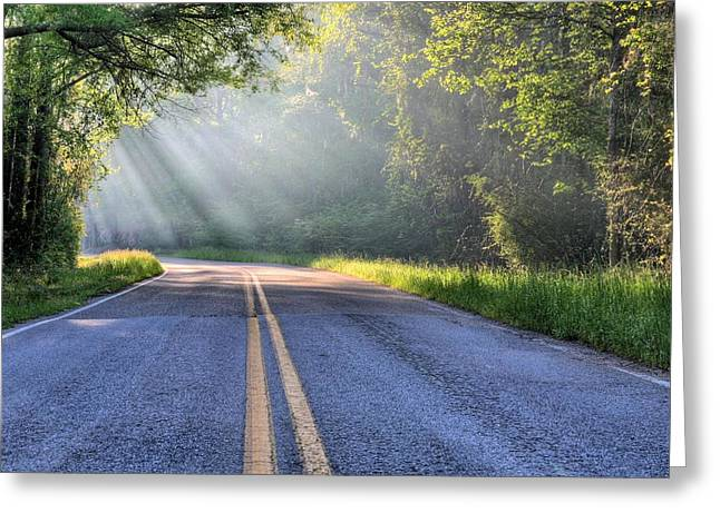 Florida Backroads  Greeting Card by JC Findley
