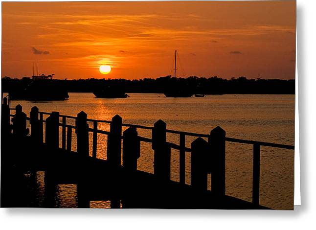 Florida Bay Sunset Greeting Card
