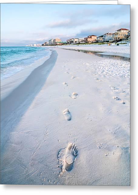 Florida Beach Scene Greeting Card by Alex Grichenko