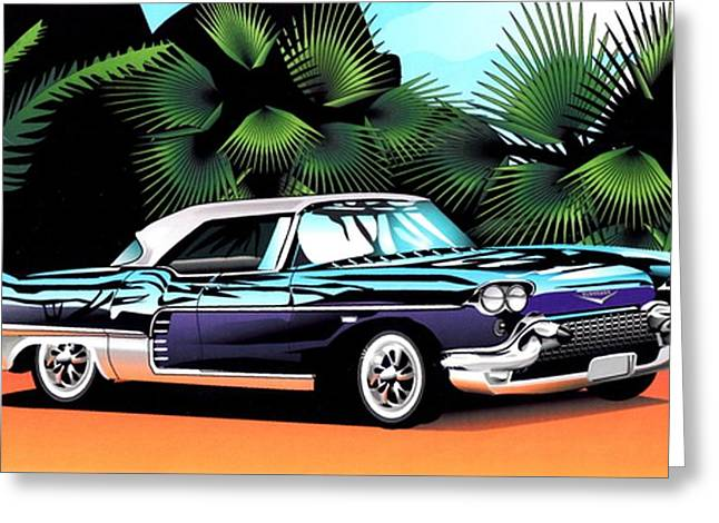 Florida Car Greeting Card by P Dwain Morris