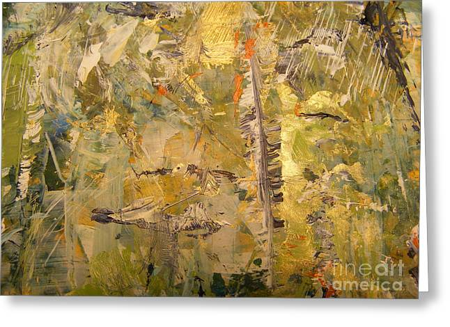 Florida Feather Greeting Card by Nancy Kane Chapman