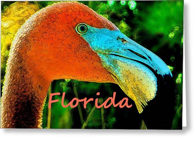 Florida Flamingo Greeting Card