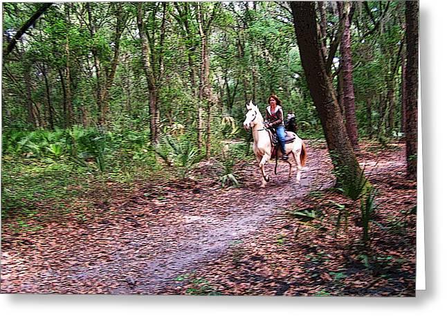 Florida Horse And Rider Greeting Card